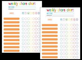 Printable Weekly Chore Chart Fellowes