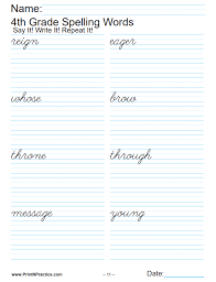 A collection of english esl worksheets for home learning, online practice, distance learning and english classes to teach about phonics, phonics. Fourth Grade Worksheets Math Writing Grammar Phonics Spelling