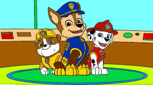 Paw Patrol Coloring Pages Rubble Chase Marshall Paw Patrol Coloring Book