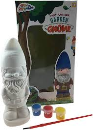 paint your own garden gnome statue