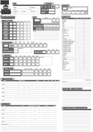 character sheet pathfinder pathfinder inventory sheet ivedi preceptiv co