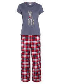 Designer Christmas Pajamas Clothing At Tesco F F Oh Deer Slogan Christmas Pyjamas