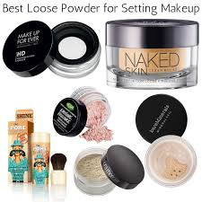 the best loose powders for setting makeup