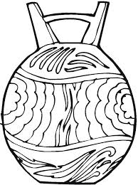 Exclusive Pottery Coloring Pages K3633 Vase Pottery Coloring Page