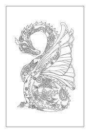 Printable Dragon Coloring Pages For Adults Coloring For Kids 2019