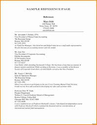 Resume Reference Page Format Sample Examples In For A With Resume Awesome Resume References Page