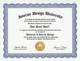 certificate of interior design. Perfect Certificate Interior Designer Design Degree Custom Gag Diploma Doctorate Certificate  Funny Customized Joke Gift  And Of B