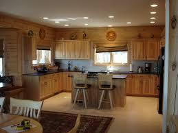 Mood Lighting Kitchen Interior Sectional Bar Top Design Also Double Door System
