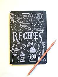 Blank Notebook Hand Lettered Recipe Book Field Notes