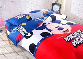 mickey mouse full bedding set mickey mouse polka dots cartoon cotton bed set for boys with