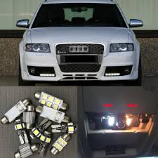 Us 11 69 10 Off 12pc White Canbus Car Led Light Bulbs Interior Package Kit For 2001 2002 2003 2004 Audi A4 B6 8e Led Map Dome License Plate Lamp In