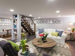 diy basement design ideas. AFTER: Family Room Area In Basement Remodeling Ideas From TV From HGTV Diy Basement Design Ideas