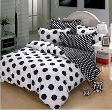 black and white polka dot cotton duvet cover bedding black and white bedding