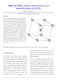 31 Planes Of Existence Chart Pdf Xrd And Txrf Evidences Of The Existence Of A Monoclinic