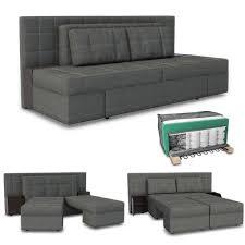 Sofa Mit Schlaffunktion 235 X 105 Cm In Grau Schlafsofa Boxspringbett Schlafcouch Couch Ecksofa