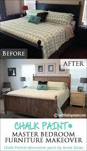 Painted Bedroom Furniture Before And After Chalk Paint Revised White  Painted Bedroom Furniture With Oak Tops .