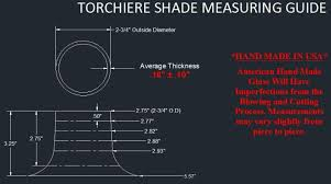 how to measure torchiere style floor lamp glass shades