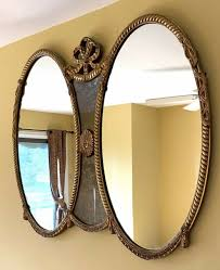 large ornate antique gold wall mirror