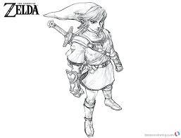 Legend Of Zelda Coloring Legend Of Coloring Pages Portraits Finest
