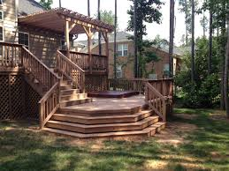 Bi Level Deck Designs Raleigh Multi Level Decking More Than Just A Beautiful Deck