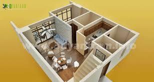 D Floor Plan Design  Interactive D Floor Plan   Yantram Studiosmall room Floor Plan