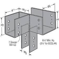 simpson 6x6 post to beam connector. Wonderful 6x6 Simpson ECCLL666HDG Left EndCorner Column Cap Hot Dip Galvanized On 6x6 Post To Beam Connector