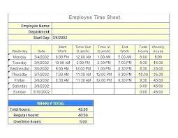 Employee Time Card Calculator Employee Time Card Template