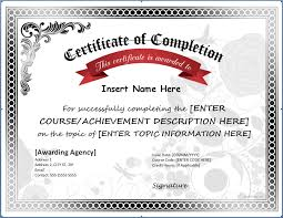 Certificate Of Completion Templates 031 Free Printable Certificate Templates Of Completion