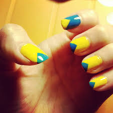 Red And Yellow Nail Designs Grey And Yellow Nail Designs Demon Coffin Nails With Glossy