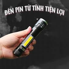 Đèn Pin Led Siêu Sáng Chip COB Sạc USB, Nam Châm Siêu Hút, Cho Thợ Sửa Ô  tô, Máy Móc Cơ Khí - Đèn pin
