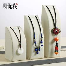 get ations excellent color linen three sets of curved frame pendant necklace jewelry holder jewelry display jewelry display