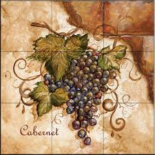 kitchen tiles with fruit design. tile mural, tuscan grapes i by tre sorelle studios, 18\ kitchen tiles with fruit design