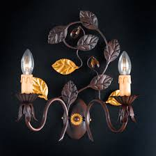 Ap Iron Design Bl111 Ap2 2 Lights Wrought Iron Sconce With Crystals