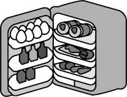 小型冷蔵庫のイラスト フリーイラスト素材 変な絵net