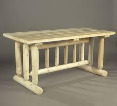 rustic natural cedar harvest family dining table sku c – cedar