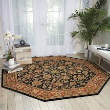 oriental area rugs beautiful nourison parthia midnight area rug 8 octagon 8 x 8 red size