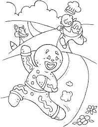 Free Christmas Coloring Pages Gingerbread Man Weareeachother Coloring