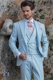 Light Blue Tuxedo Prom Brand New Groomsmen Baby Blue Groom Tuxedos Peak Lapel Men Suits Wedding Best Man Bridegroom Jacket Pants Vest L125 Mens Prom Tuxedos Modern