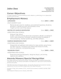 Resume Templates Examples Of Objectives Impressive Sample For