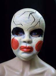 image is loading creepy smeared makeup doll costume mask haunted ed