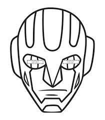 Maschera Robot Disegno Da Colorare Gratis Disegni Da Colorare E