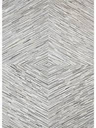 koza diamond cowhide rug white 01 white grey