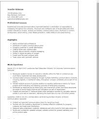 Resume Templates: Corporate Communications Specialist