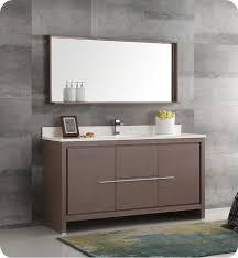 modern single sink bathroom vanities. Fresca FVN8119GO-S Allier 60\ Modern Single Sink Bathroom Vanities T