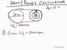 Poe Belt Pulley Calculations