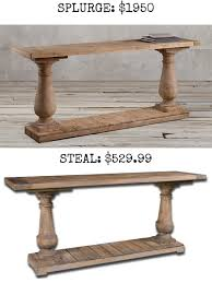 splurge barade salvaged wood console table 1950