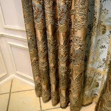 curtain fashion window curtain design ancient roman style curtains luxury embroidery 3d flower royal golden window set in curtains from home garden