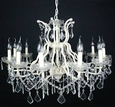 large cream 12 arm branch french shallow cut glass chandelier high quality