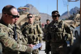 u s department of defense photo essay u s army sgt thaddaeus hendershot left conducts a pre mission briefing on