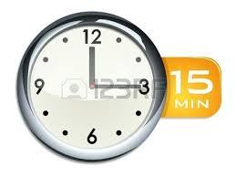 Fifteen Minutes Timer Timer 15 Mins Office Wall Clock Timer Minutes Stock Vector 15 Minute